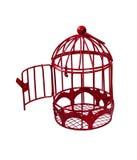 дверь birdcage открытая к Стоковая Фотография
