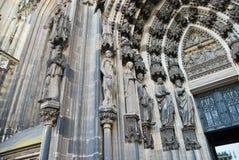 дверь cologne собора Стоковое Изображение