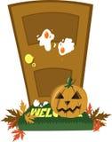 Дверь Halloween иллюстрация вектора
