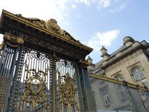 Дверь Palais de Правосудия, Париж, Франция Стоковое фото RF