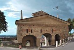 дверь s agostino bergamo стоковое фото