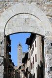 Дверь San Gimignano Стоковая Фотография RF