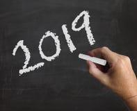 Две тысячи 19 представляет 2019 Новых Годов и празднует Стоковое Изображение RF