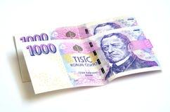 Две тысячи чехословакских банкнот крон Стоковое фото RF