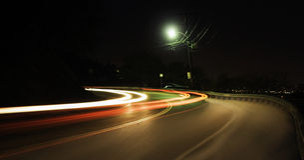 двигает ночу Стоковые Изображения