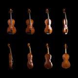 двигает под углом различная скрипка стоковое изображение