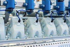 Двигатель внутреннего сгорания Крышка головки цилиндра Стоковое Фото