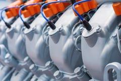 Двигатель внутреннего сгорания Крышка головки цилиндра Стоковые Фото