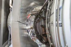 Двигатель газовой турбины в приложении надутом стороной Стоковая Фотография