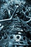 Двигатель газовой турбины приложения компрессора газа питания обнаруженного местонахождение надутого внутренностью, двигатель газ Стоковые Фото