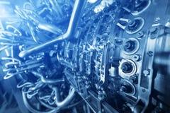 Двигатель газовой турбины приложения компрессора газа питания обнаруженного местонахождение надутого внутренностью, двигатель газ Стоковые Изображения