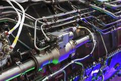 Двигатель двигателя истребитель-бомбардировщика стоковое изображение