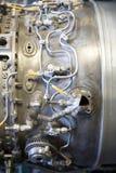 двигатель двигателя предпосылки воздушных судн большой делает механически трубы панковские системы пара и Сделал большую предпосы Стоковое Изображение