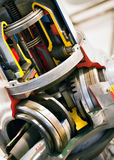 двигатель крупного плана внутрь Стоковые Фото