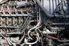 двигатель крупного плана Стоковое Изображение