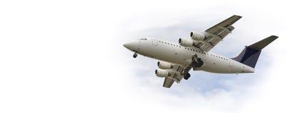 двигатель летания самолета стоковая фотография