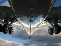двигатель полета живота Стоковое Изображение