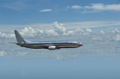 двигатель полета самолета Стоковое фото RF