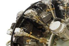 Двигатель поршеня авиации с радиальным расположением цилиндров Стоковое Фото