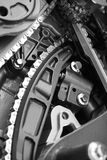 двигатель привода с цепной передачей стоковые изображения rf