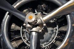 двигатель самолета античный Стоковая Фотография RF