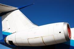 двигатель самолетного двигателя стоковое изображение