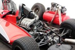 Двигатель участвуя в гонке гоночной машины Стоковое Изображение