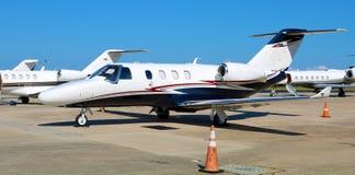 Двигатель цитации Цессны на авиапорте Нового Орлеана частном Стоковые Фото