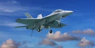двигатель шершня самолет-истребителя 18 f стоковое изображение