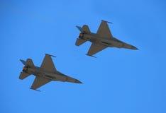 двигатель 16 самолет-истребителей 2 f Стоковые Изображения RF