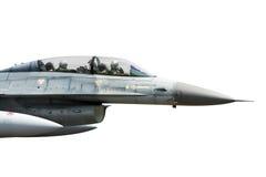 двигатель 16 f изолированный самолет-истребителем Стоковые Изображения RF
