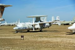 Двигатель T-39G Sabreliner в воздухе Pima и музее космоса Стоковые Фото