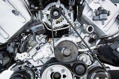 Двигатель автомобиля - современный мощный двигатель автомобиля Стоковая Фотография RF