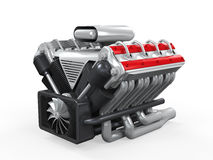 Двигатель автомобиля V8 стоковое фото rf