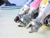 Двигатель быстроходного катера Стоковые Фото