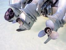 Двигатель быстроходного катера Стоковая Фотография