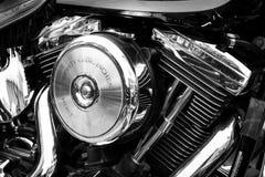 Двигатель близкий вверх мотоцикла Стоковое фото RF