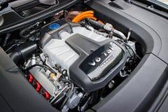 Двигатель 2017 гибрида Фольксвагена Touareg Стоковая Фотография