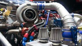 Двигатель гоночного автомобиля Стоковые Изображения RF