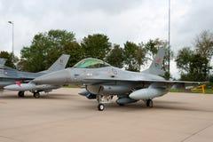 Двигатель истребителя F-16 Норвегии Стоковые Изображения RF