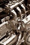 Двигатель мотоцикла Стоковые Изображения