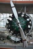 Двигатель на городе каштанового самолета Стоковая Фотография RF