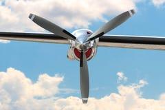 Двигатель пропеллера самолета Стоковые Фото