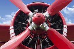 Двигатель пропеллера самолета Стоковая Фотография