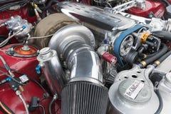 Двигатель 1994 Тойота Supra на дисплее Стоковые Фотографии RF