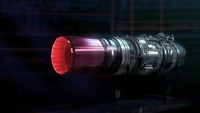 Двигатель черноты испытания тяги аэродинамики двигателя турбореактивности иллюстрация вектора