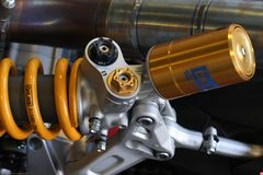 Двигатель 1199 Ducati Panigale r и задний Superbike WSBK Ducati Alstare suspensionTeam Стоковая Фотография