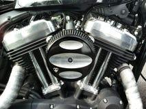Двигатель Harley Davidson стоковая фотография rf
