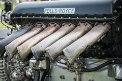 Двигатель Rolls Royce Мерлина aero Стоковые Фото