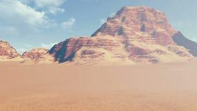 Двигать далеко от красных утесов в каньоне акции видеоматериалы